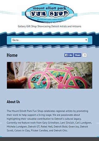 Responsive e-commerce website for the Mount Elloitt Park Fun Shop in Detroit, Michigan.