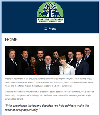 Responsive and adaptive website for Hughes & Associates Placement Partners