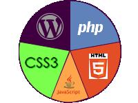 WordPress, PHP, CSS3, HTML5, JavaScript