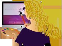 Website design, creative illustrations, computer design