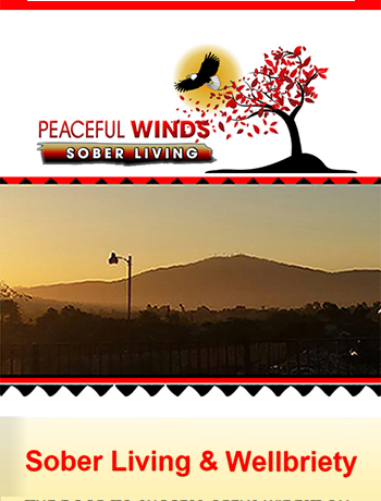Peaceful Winds Sober Living & Wellbriety House responsive website screencap