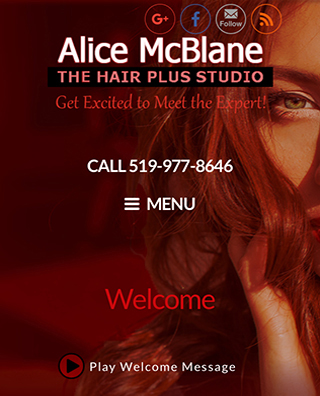 Alice McBlane's Hair Plus Studio responsive & adaptive website